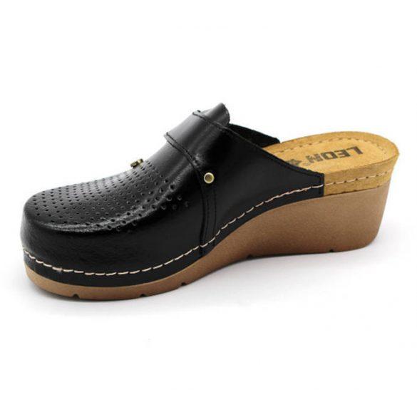 Leon Comfort 1001 Fekete női papucs