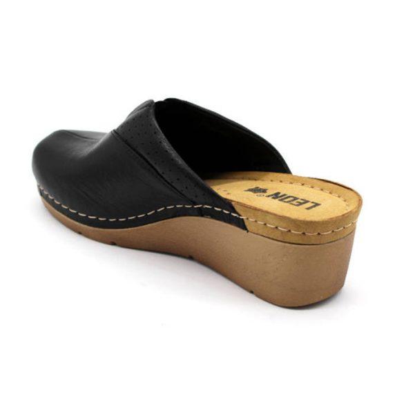 Leon Comfort 1002 fekete női papucs