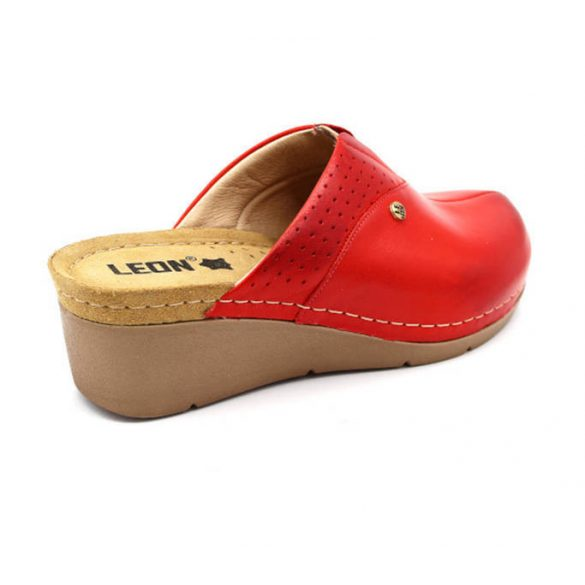 Leon Comfort 1002 Piros női papucs