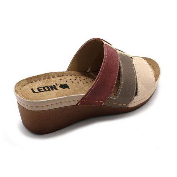 Leon Comfort 1009 Bézs/Rózsa női papucs