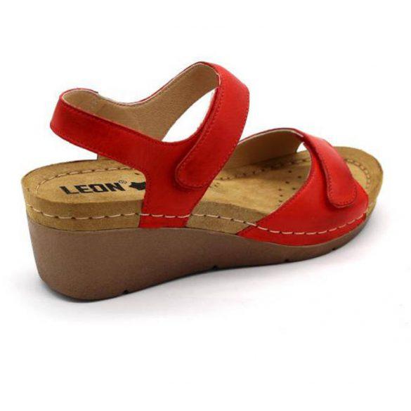 Leon Comfort 1041 Piros női szandál