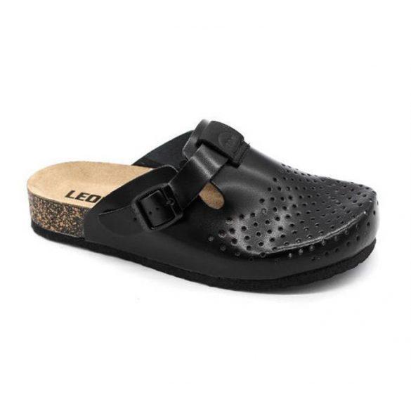 Leon Comfort 1250 Fekete női papucs