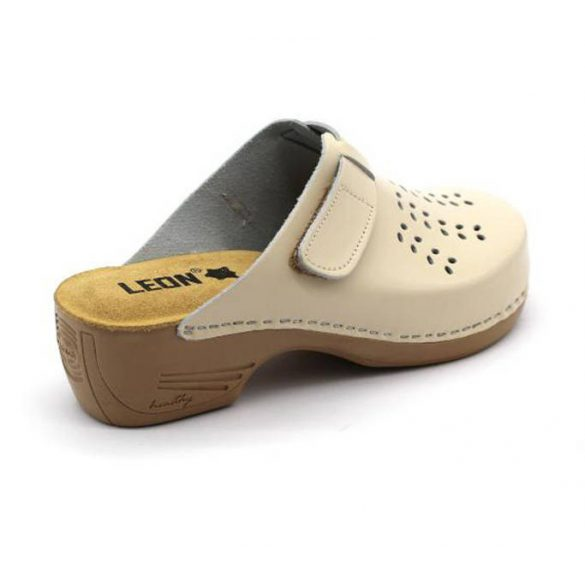 Leon Comfort 161 bézs uj női papucs