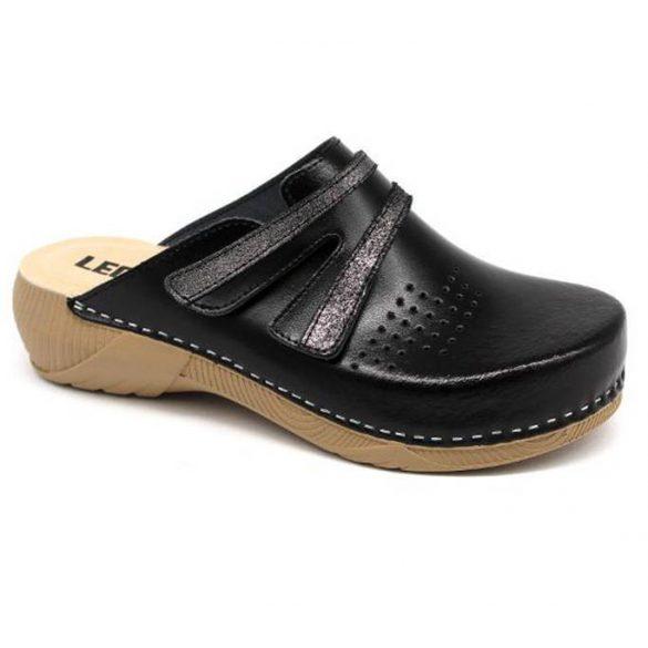 Leon Comfort 3200 Fekete női papucs