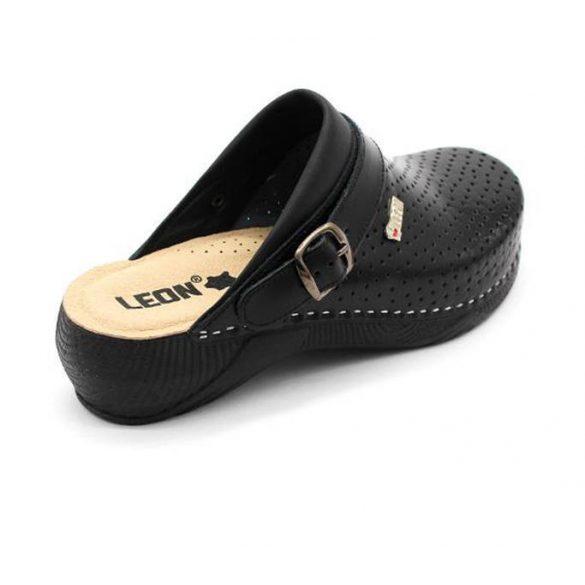 Leon Comfort 3300 Fekete női papucs