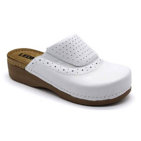 Leon Comfort 400 Fehér női papucs