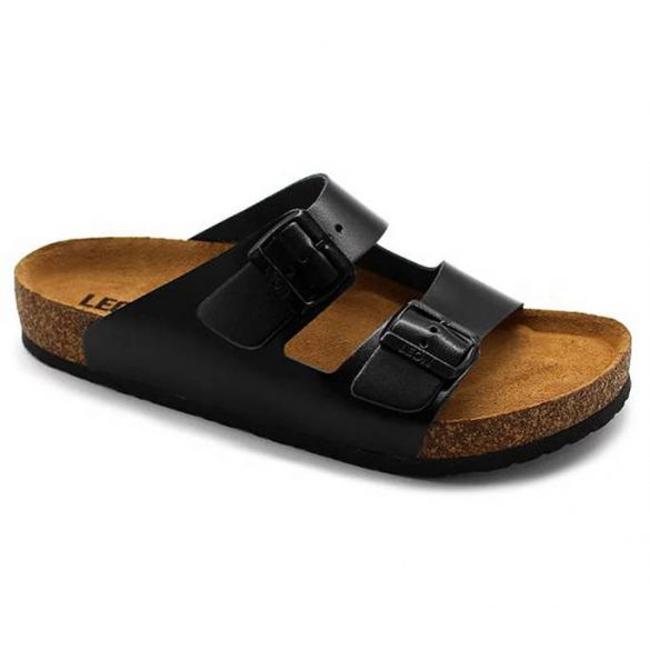 Leon Comfort 4010 Fekete női papucs