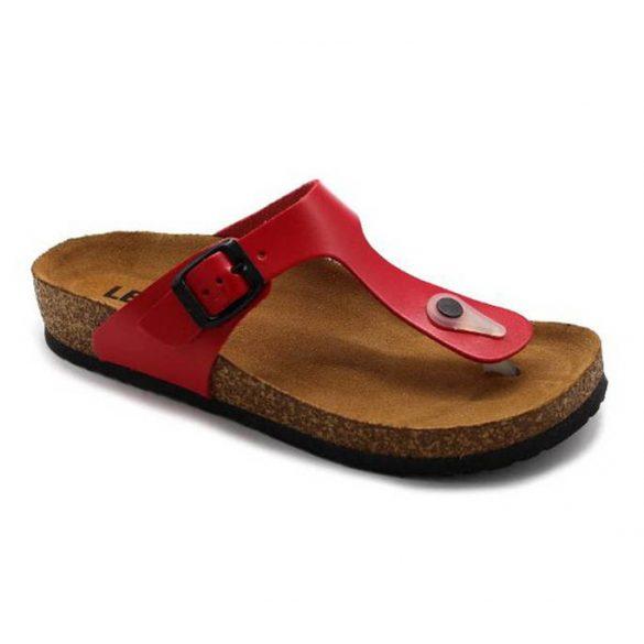 Leon Comfort 4080 Piros női papucs