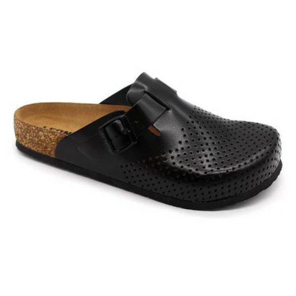 Leon Comfort 4700M Fekete férfi papucs