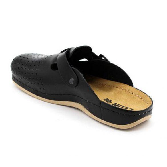 Leon Comfort 700 Fekete férfi papucs