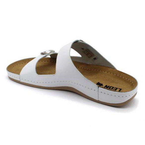 Leon Comfort 702 Fehér férfi papucs