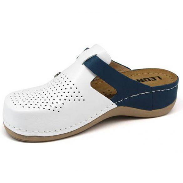 Leon Comfort 901 Fehér/Kék női papucs
