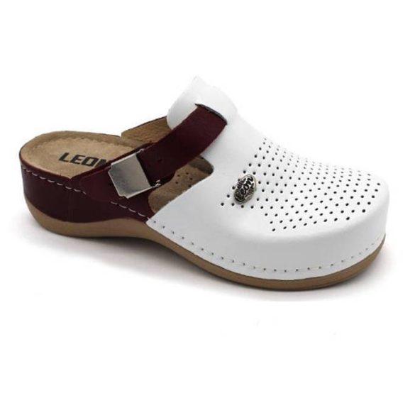 Leon Comfort 901 Fehér/Piros női papucs