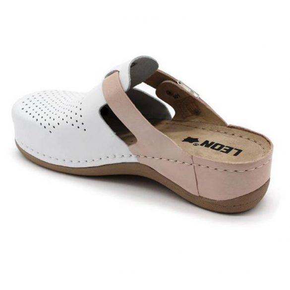 Leon Comfort 901 Fehér/Púder női papucs