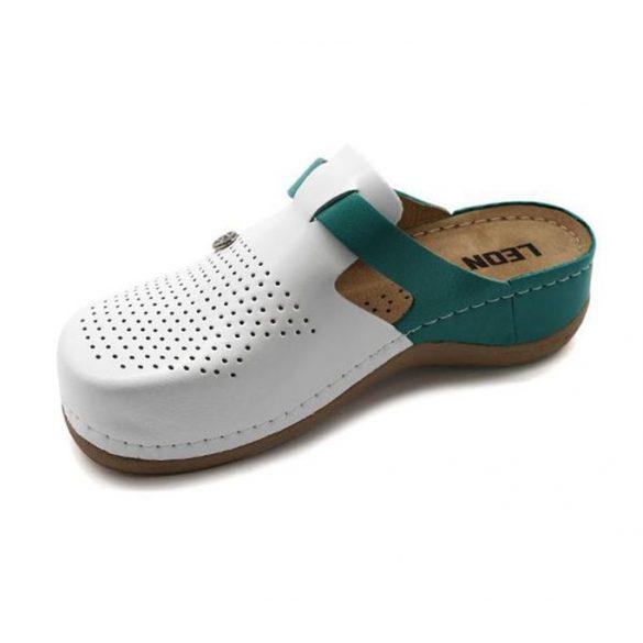 Leon Comfort 901 Fehér/Türkiz női papucs
