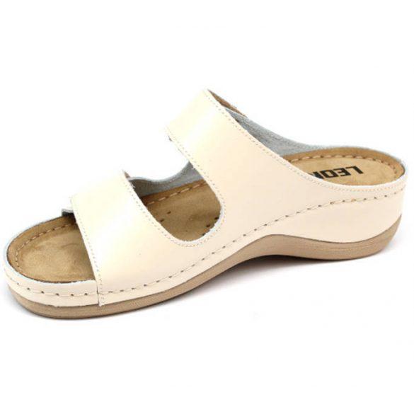 Leon Comfort 904 Bézs női papucs