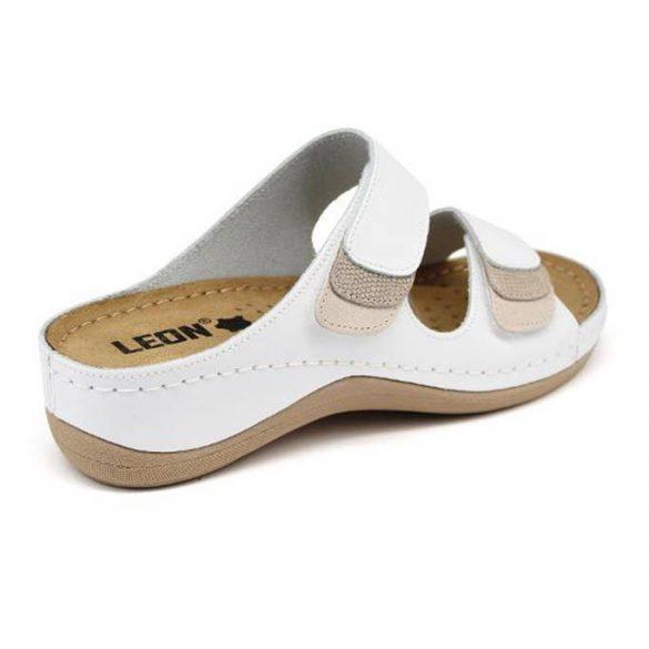 Leon Comfort 904 Fehér női papucs