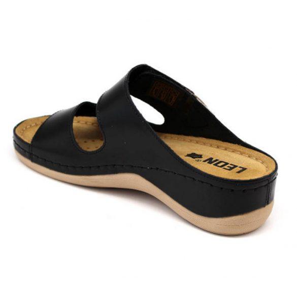 Leon Comfort 904 Fekete női papucs