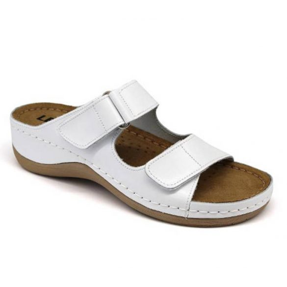 Leon Comfort 905 Fehér női papucs
