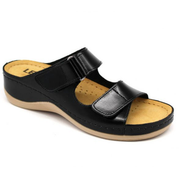 Leon Comfort 905 Fekete női papucs