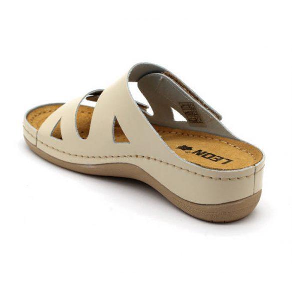 Leon Comfort 906 Bézs női papucs