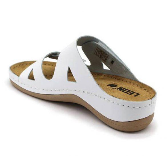 Leon Comfort 906 Fehér női papucs