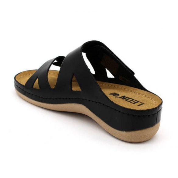Leon Comfort 906 Fekete női papucs