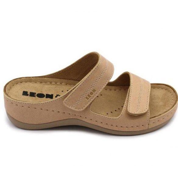 Leon Comfort 907 bézs női papucs