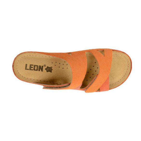 Leon Comfort 907 Narancs női papucs