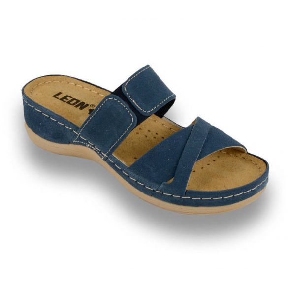 Leon Comfort 909 DarkBlue női papucs