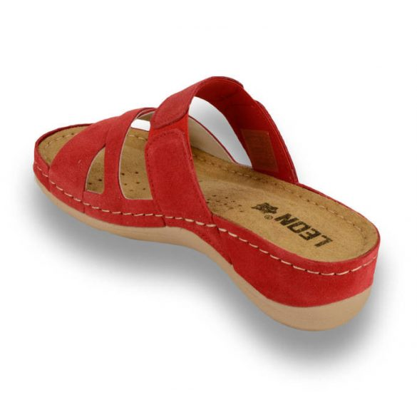 Leon Comfort 909 Red női papucs
