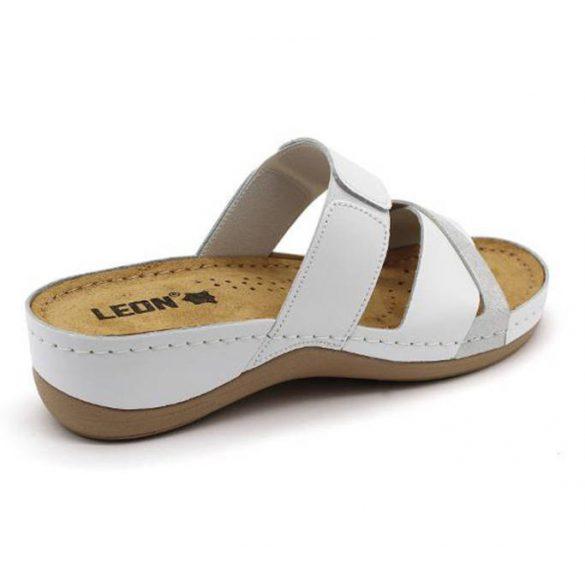 Leon Comfort 909 White női papucs