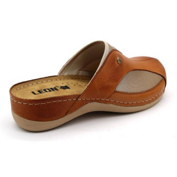 Leon Comfort 912 Barna női papucs