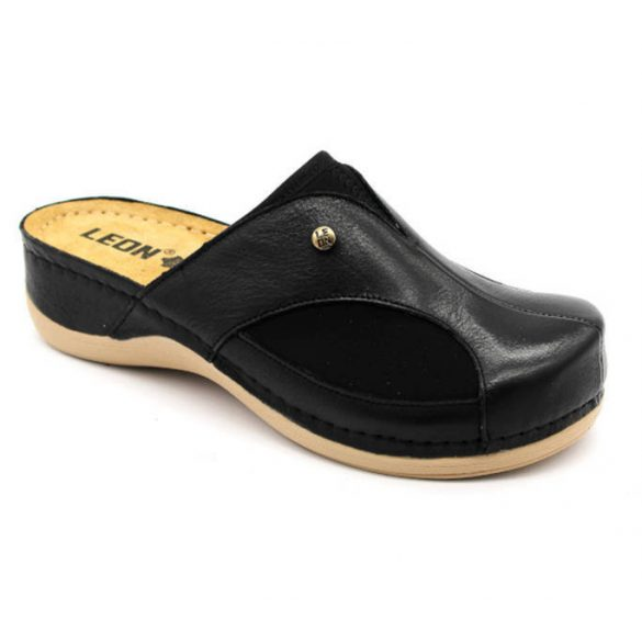 Leon Comfort 912 Fekete női papucs