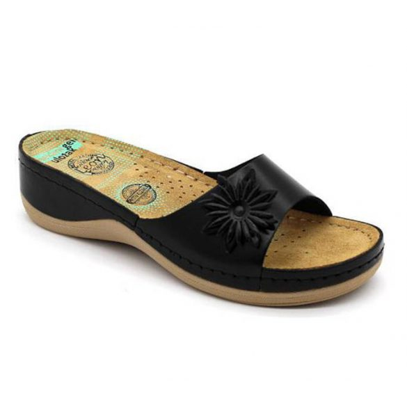 Leon Comfort 915 Fekete női papucs