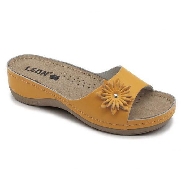 Leon Comfort 915 narancssárga női papucs