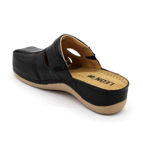 Leon Comfort 925 Fekete női papucs