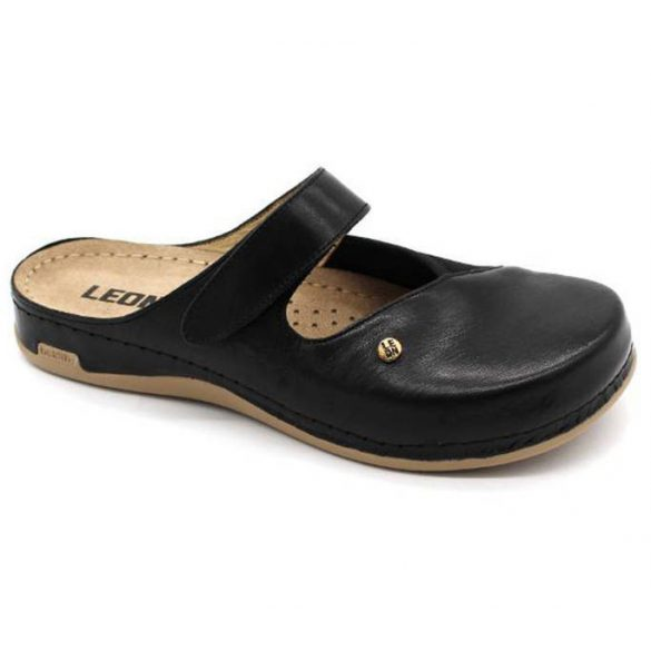 Leon Comfort 953 Fekete női papucs