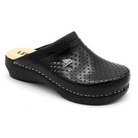 Leon Comfort PU 100 Fekete női papucs