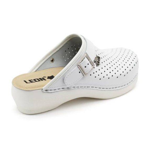 Leon Comfort PU 101 Fehér női papucs