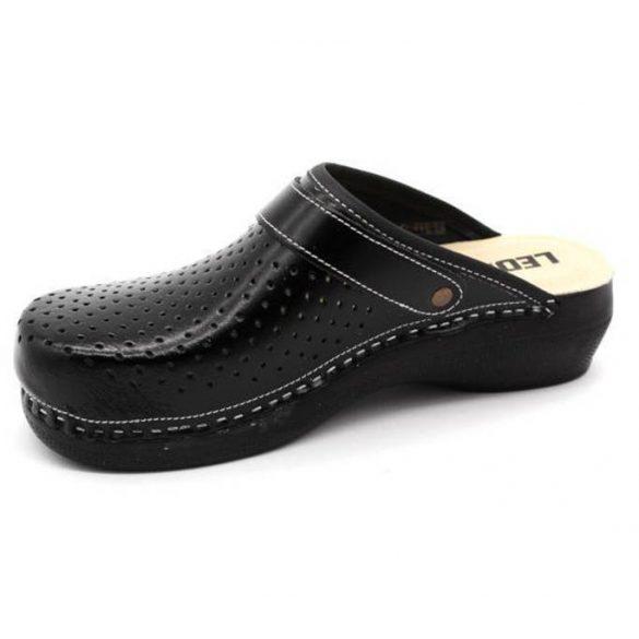 Leon Comfort PU 101 Fekete női papucs