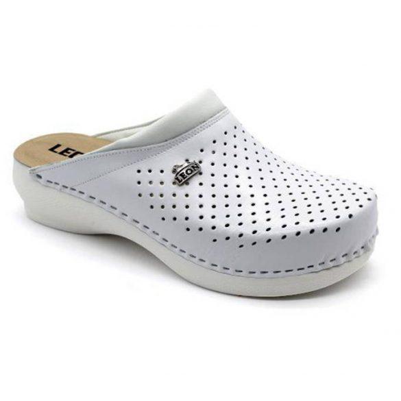 Leon Comfort PU 100 Fehér női papucs